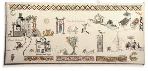 Château de Coupiac en Aveyron - tapisserie d'inspiration médiévale